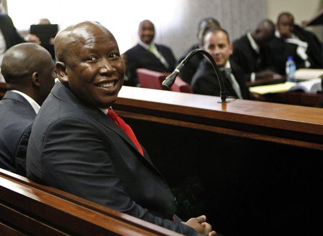 Afrique du Sud Julius Malema à la barre