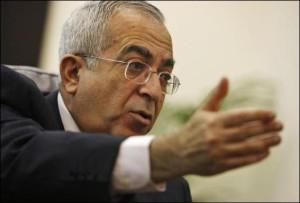 Palestine démission du Premier ministre Salam Fayyad
