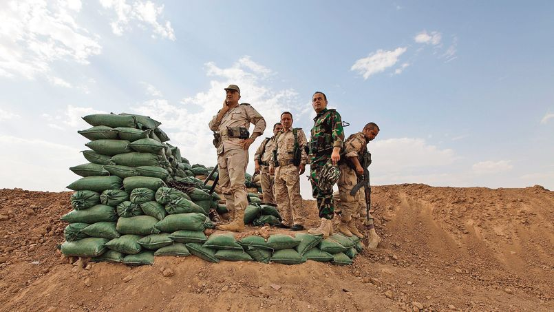 Kurdish Peshmerga Defenses Around the Edges of Mosul, Iraq.