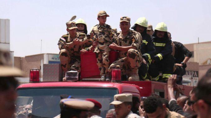 18 policiers morts dans une attaque de patrouille au Nord de Sinaï